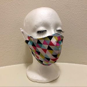 Hand Crafted Accessories - GEOMETRIC TRIPLE LAYERED FACE MASK